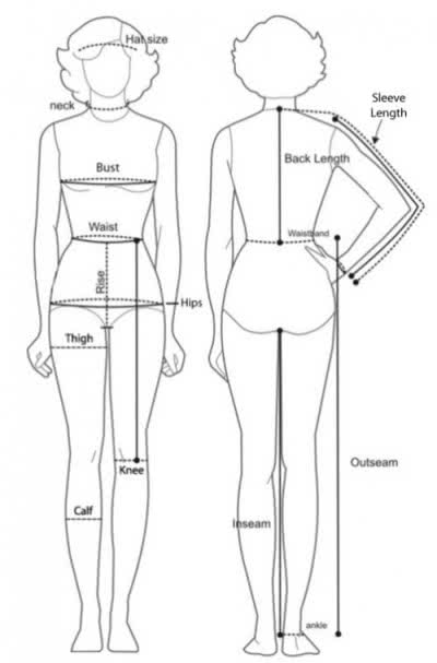 Выбираем размер одежды на алиэкспресс