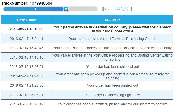 Как отследить посылку MTYtrack