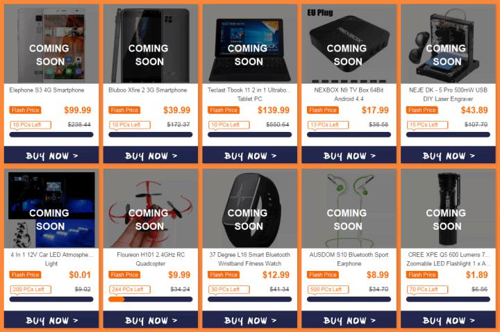 Специальные предложения к распродаже на GearBest