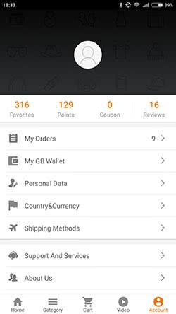 Мобильное приложение GearBest для Android