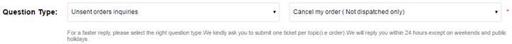 Изменить статус посылки на GearBest