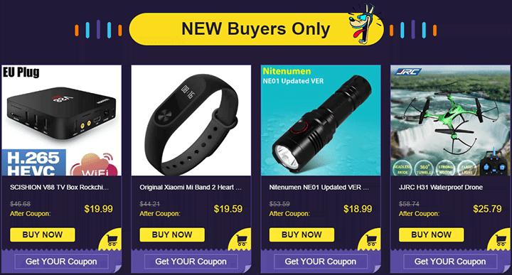 Специальные предложения от GearBest для новых покупателей