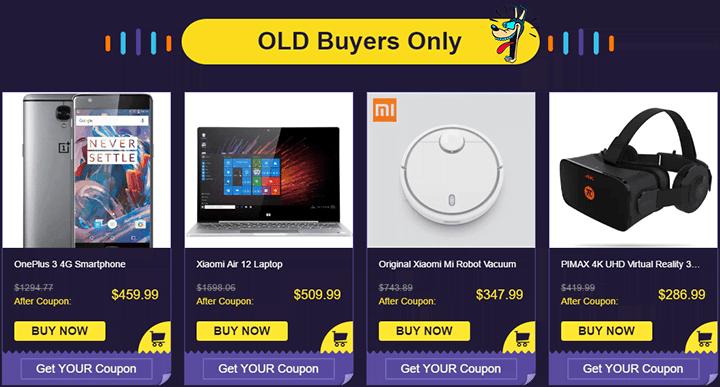 Специальные предложения от GearBest для старых покупателей