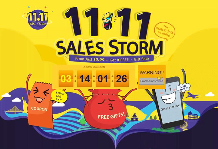 Ураганная распродажа 11.11 на GearBest