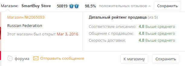 Кэшбэк у русских продавцов на АлиЭкспресс